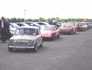 cars lining up
